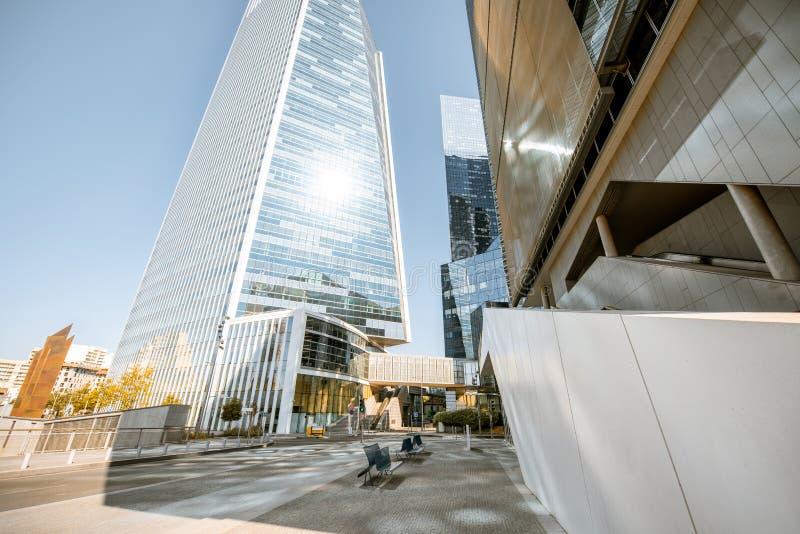 Grattacieli al distretto finanziario della città di Parigi fotografie stock libere da diritti