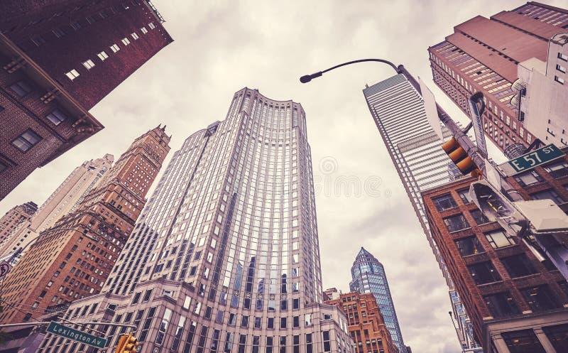Grattacieli al viale di Lexington, New York, U.S.A. fotografia stock