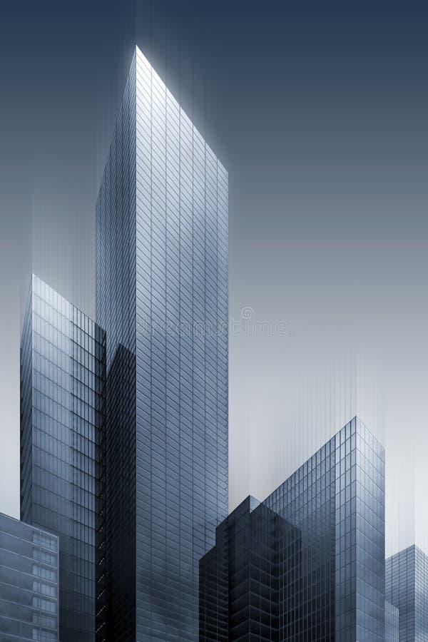 grattacieli astratti 3d royalty illustrazione gratis