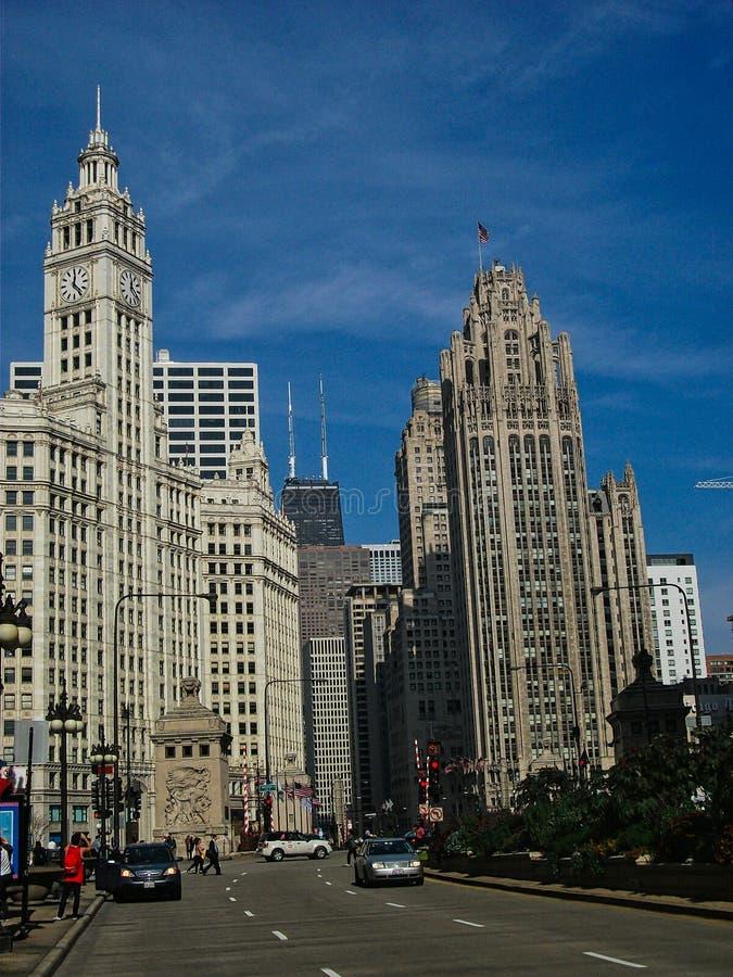 grattacieli in chigago nella città fotografia stock