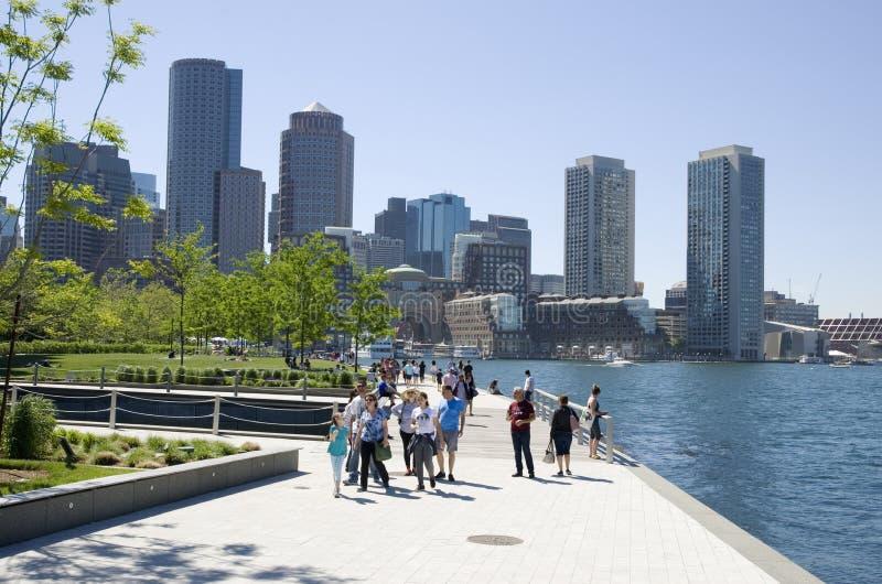 Grattacieli del centro di Boston fotografie stock