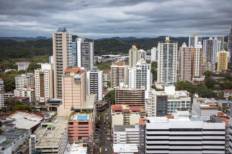 Grattacieli del centro di Panamá, Panama immagini stock