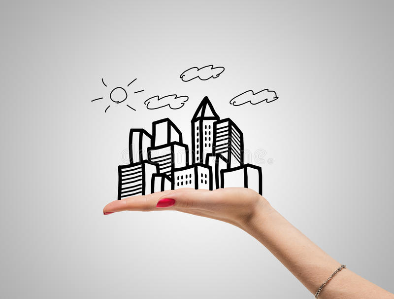 Grattacieli del disegno a disposizione illustrazione di stock