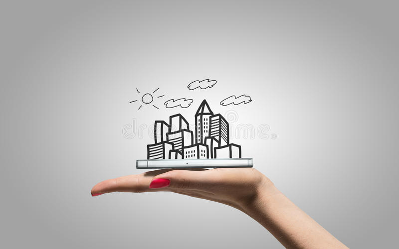 Grattacieli del disegno a disposizione royalty illustrazione gratis