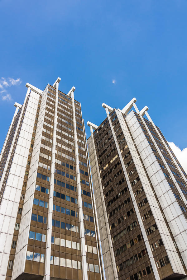 Grattacieli del gemello di Stalexport immagini stock libere da diritti