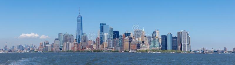 Grattacieli del Lower Manhattan ed un World Trade Center immagini stock libere da diritti