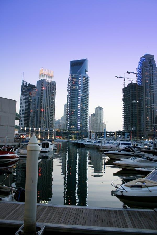 Grattacieli del porticciolo della Doubai, Emirati Arabi Uniti fotografia stock libera da diritti
