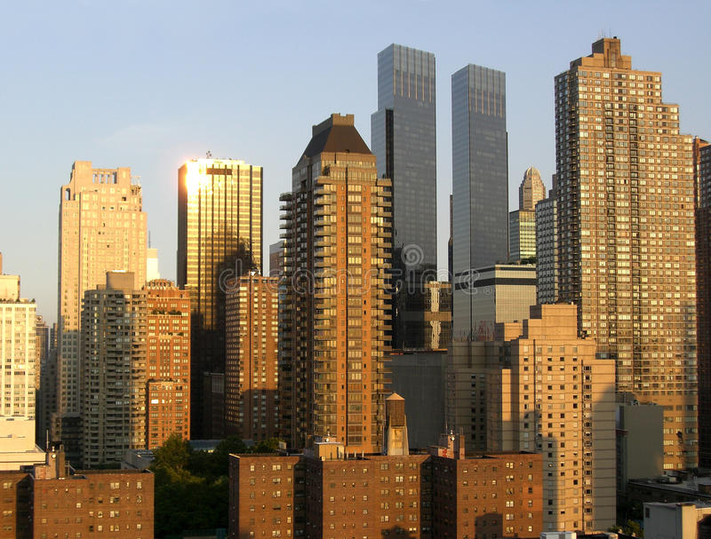 Grattacieli Di Manhattan Al Tramonto Immagini Stock