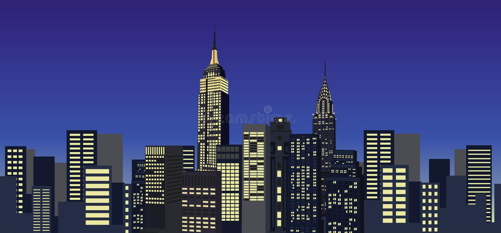 Grattacieli di new york illustrazione vettoriale for Disegni new york