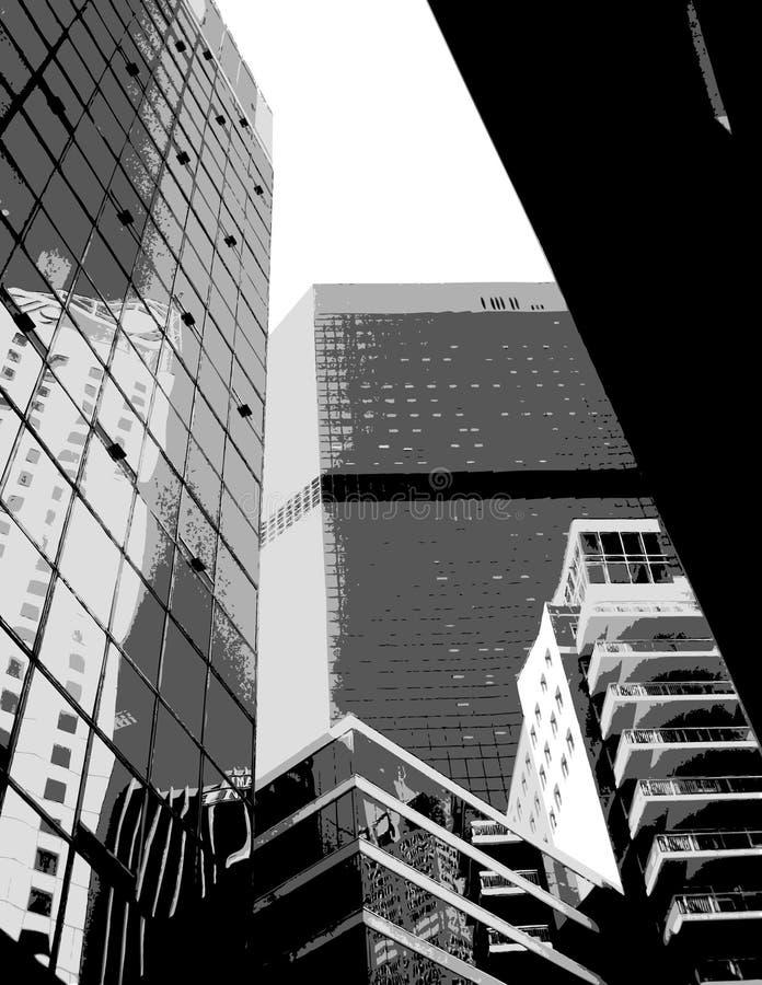 Grattacieli grigi. Arte di vettore illustrazione vettoriale