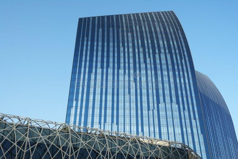 Grattacieli moderni nel Dubai fotografie stock libere da diritti
