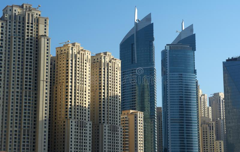 Grattacieli moderni nel Dubai immagine stock libera da diritti