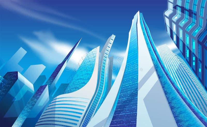 Grattacieli moderni nel vettore illustrazione vettoriale
