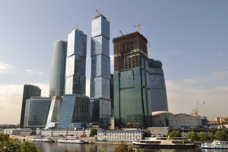 Grattacieli a Mosca fotografie stock