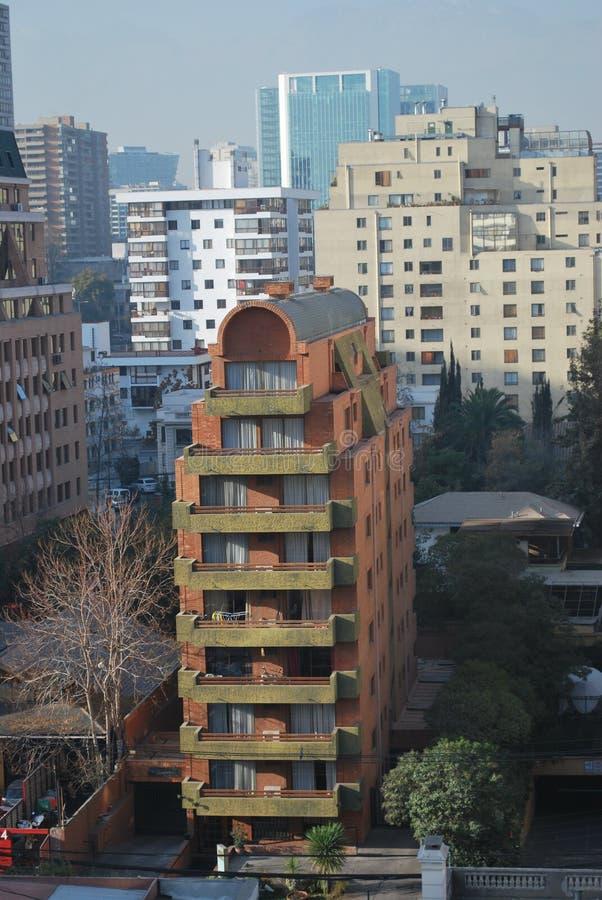 Download Grattacieli A Santiago, Cile Fotografia Stock - Immagine di limite, chile: 56891820