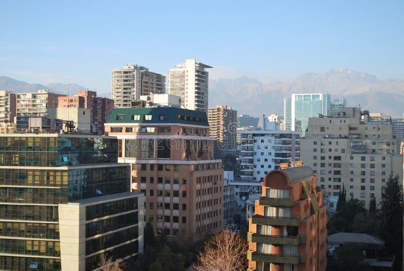 Download Grattacieli A Santiago, Cile Immagine Stock - Immagine di limite, alberi: 56892733
