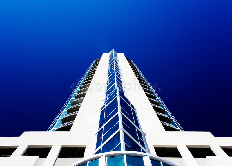 Grattacielo bianco immagine stock
