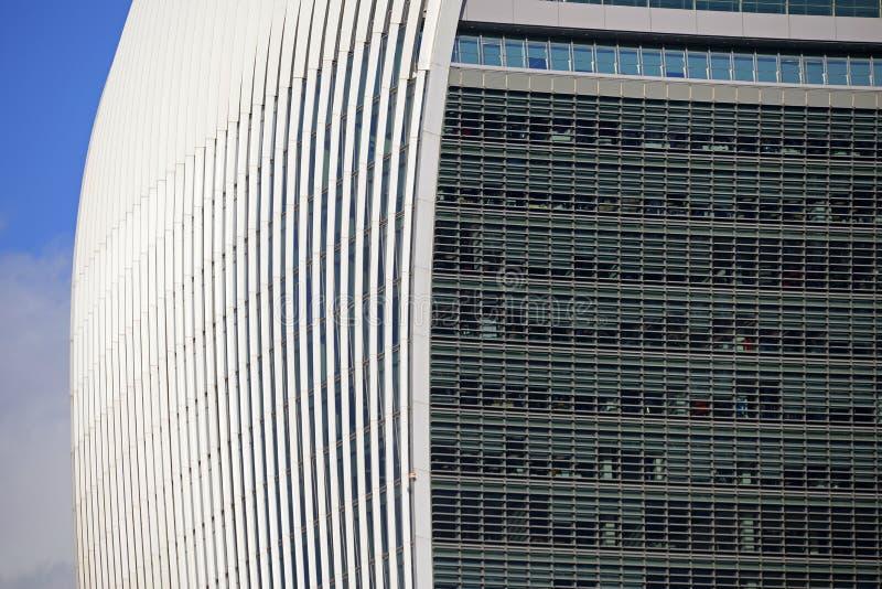 Grattacielo commerciale del walkie-talkie della via di 20 Fenchurch in città di Londra fotografie stock