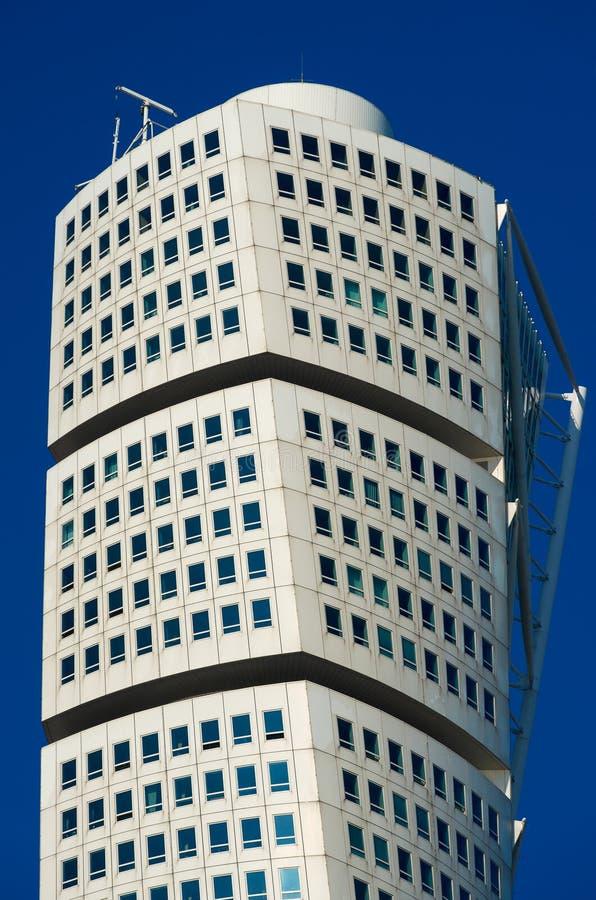 Grattacielo del torso di tornitura a Malmo, Svezia fotografia stock libera da diritti