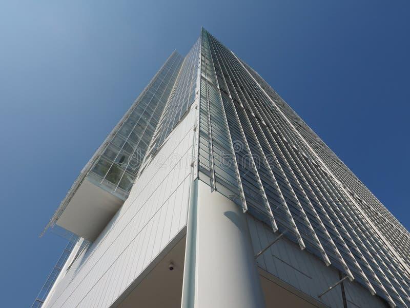 Grattacielo di Intesa San Paolo a Torino fotografia stock