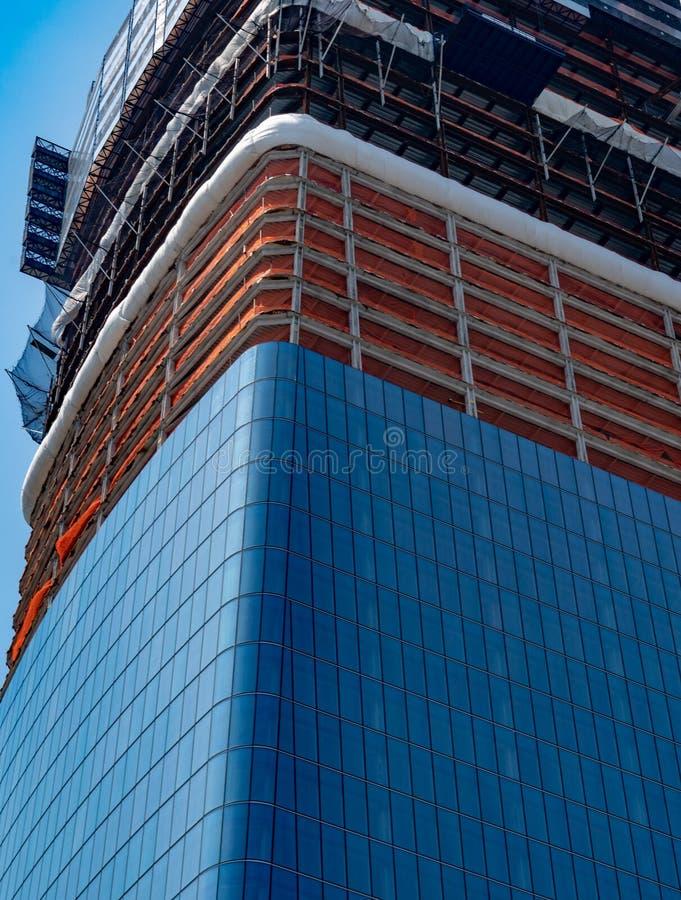 Grattacielo di New York in costruzione fotografia stock