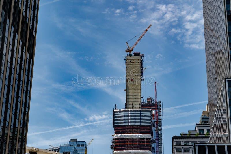 Grattacielo di New York in costruzione fotografia stock libera da diritti
