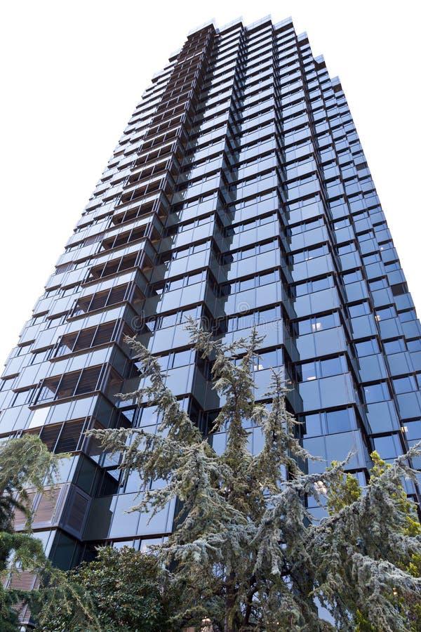 Grattacielo di vetro nero immagini stock