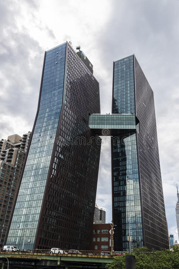 Grattacielo residenziale in Manhattan, New York, U.S.A. fotografia stock libera da diritti