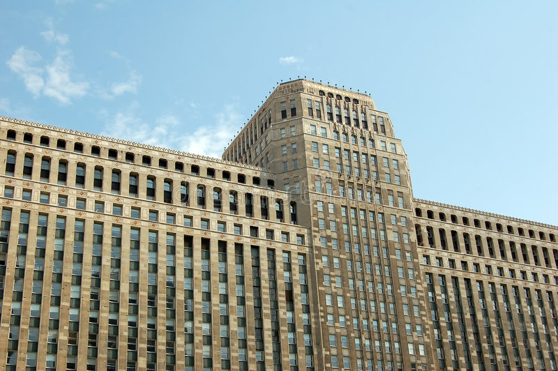 Grattacielo voluminoso immagini stock libere da diritti