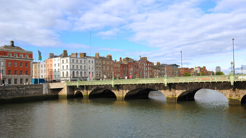 Grattan Bridge over the River Liffey. The Grattan Bridge over the River Liffey in Dublin, ireland royalty free stock photography