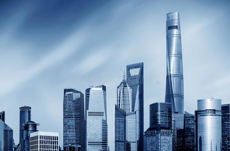 Gratte-ciel à Changhaï, Chine photos stock