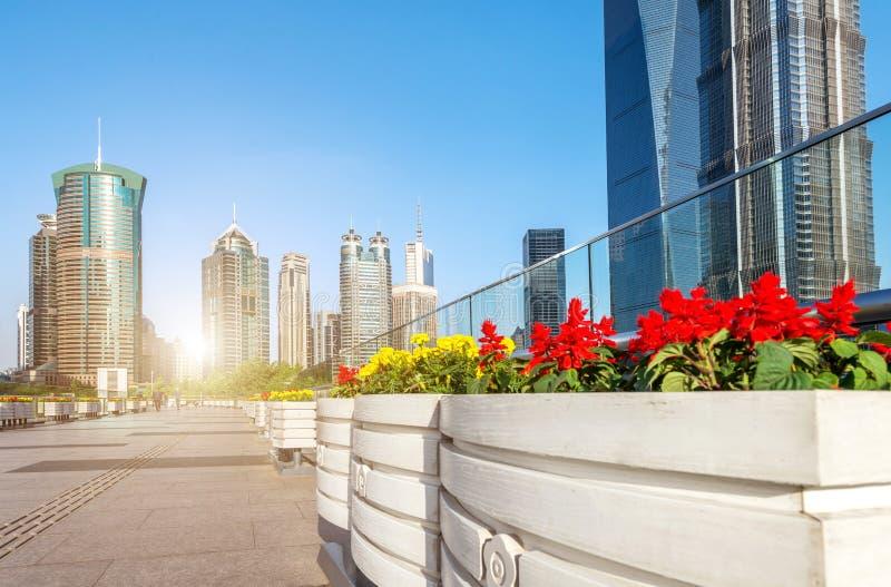 Gratte-ciel à Changhaï, Chine photo stock