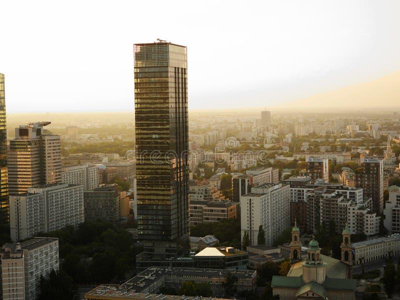 Gratte-ciel à Varsovie, Pologne photo stock