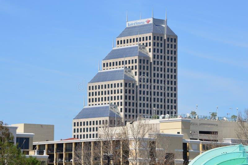 Gratte-ciel central de la Banque d'Amérique à Orlando photographie stock libre de droits