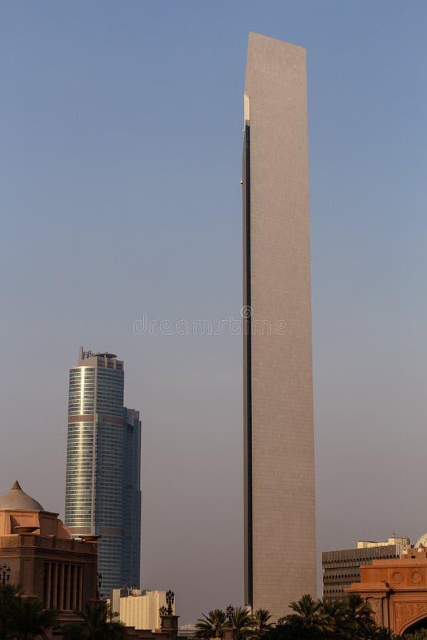 Gratte-ciel d'Abu Dhabi, Emirats Arabes Unis image libre de droits