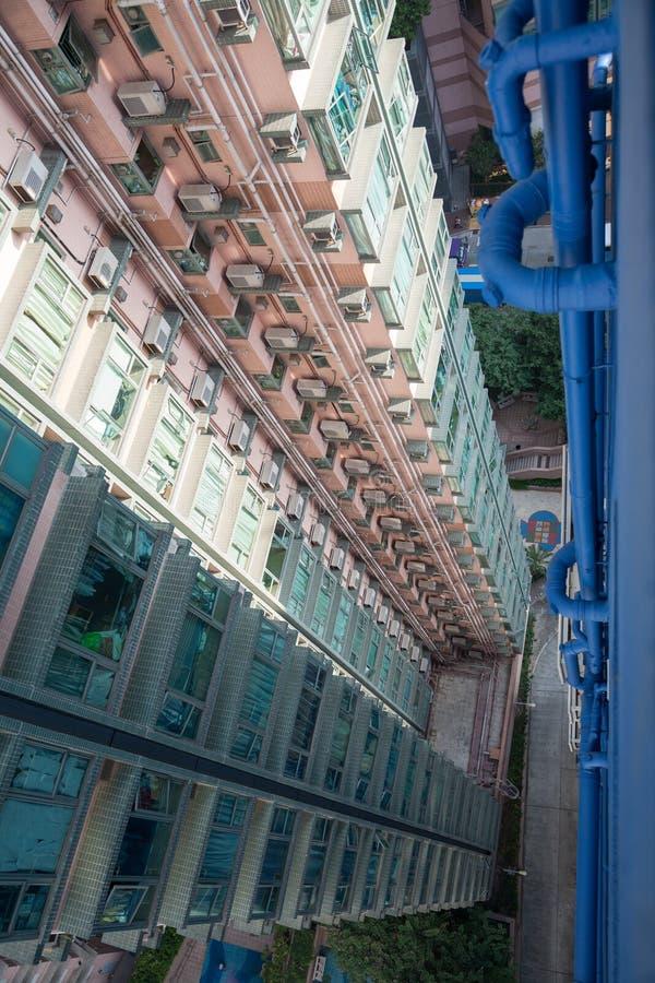 Gratte-ciel d'appartements Hong Kong photographie stock