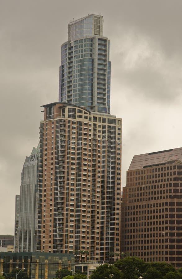 Gratte-ciel d'Austin du centre TX photographie stock libre de droits