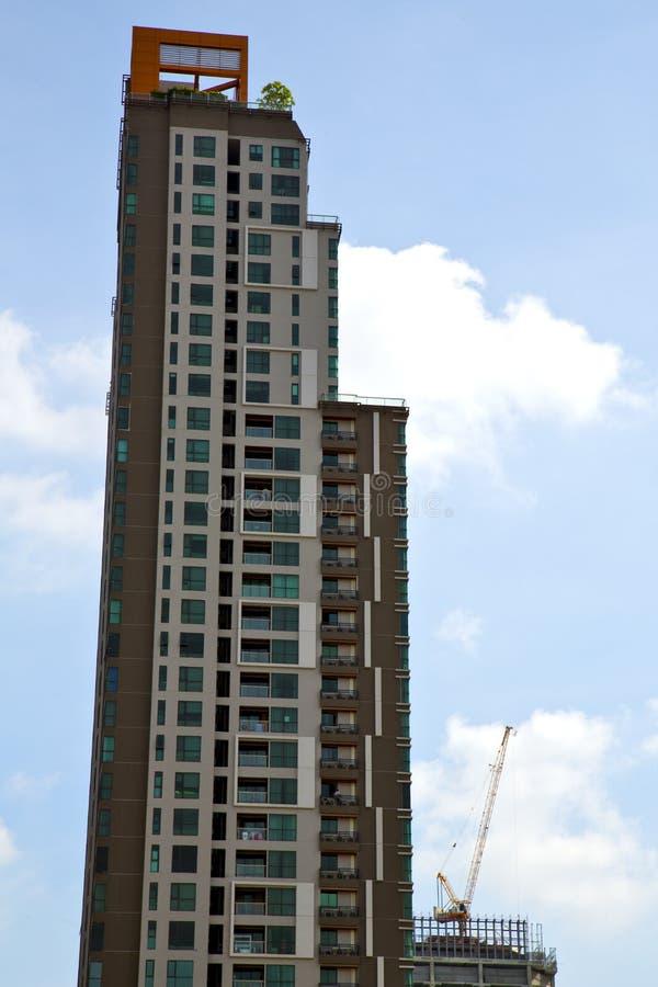 gratte-ciel d'usine de secteur de bureau de la Thaïlande de terrasse de Bangkok photos stock