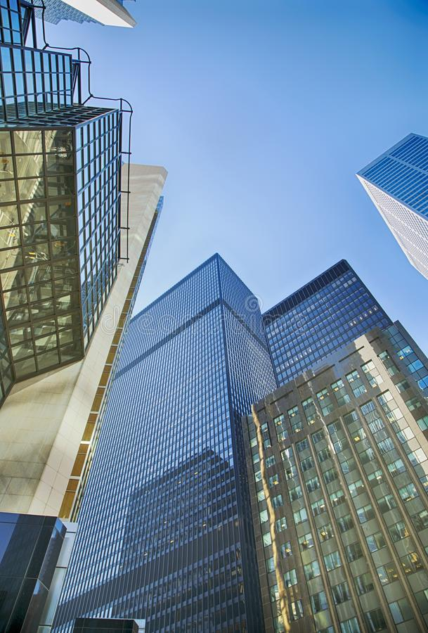 Gratte-ciel dans le secteur financier à Toronto du centre, Canada photo stock