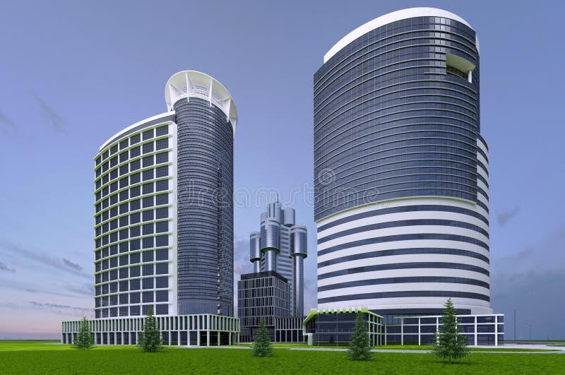 Gratte-ciel de bâtiments illustration de vecteur