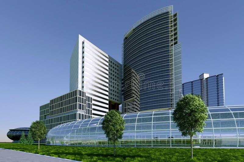 Gratte-ciel de bâtiments illustration libre de droits