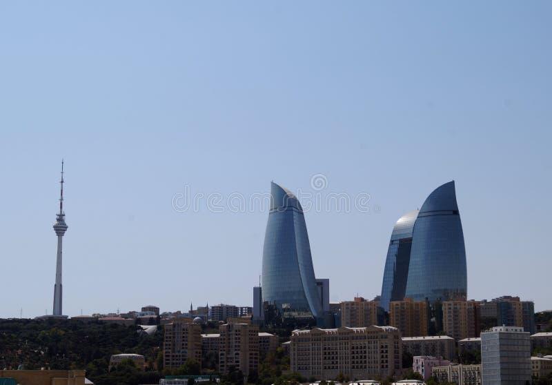 Gratte-ciel de Bakou images stock