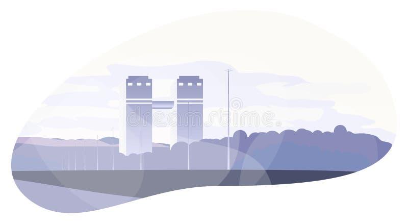 Gratte-ciel de centre d'affaires de lucarne de Moscou illustration de vecteur