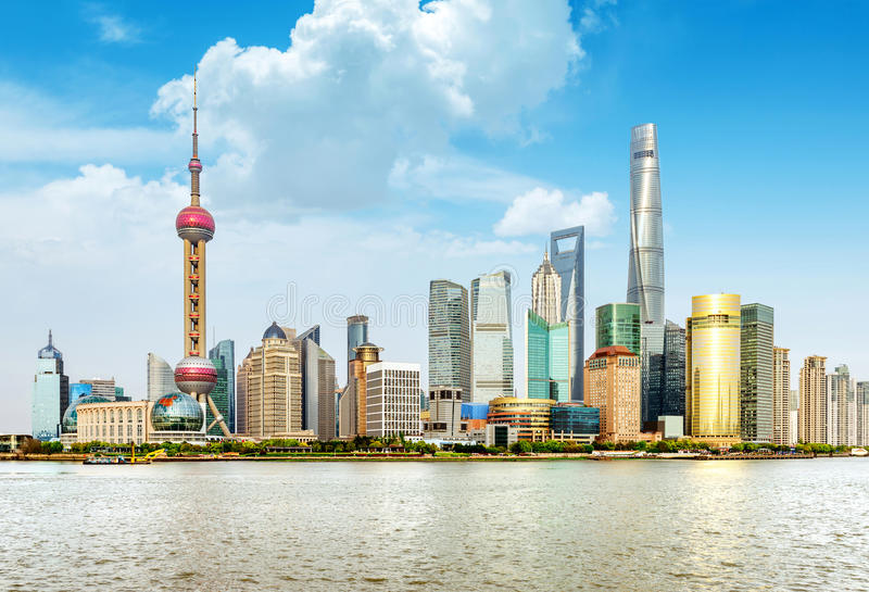 Gratte-ciel de Changhaï Lujiazui CBD image stock