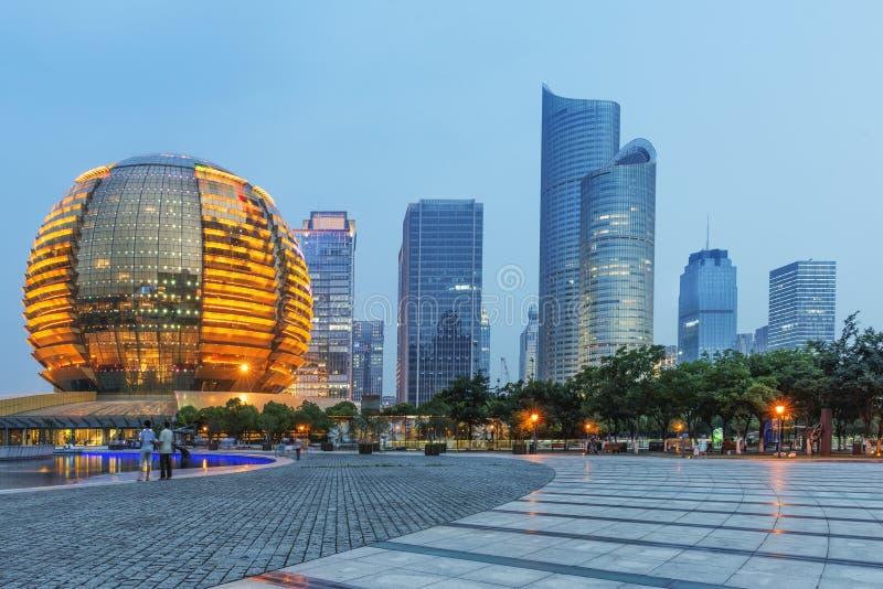 Gratte-ciel de la Chine Hangzhou images libres de droits