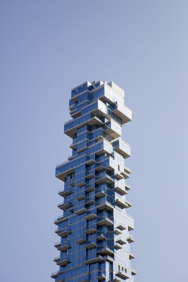 Gratte-ciel de 56 Leonard Street dans Tribeca, New York City image stock