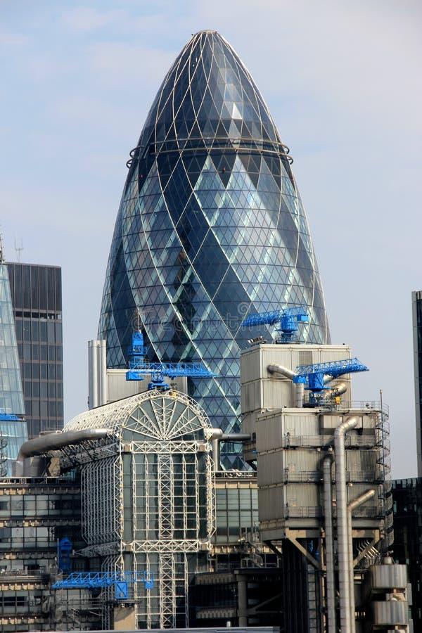 Gratte-ciel de Londres de cornichon photographie stock libre de droits