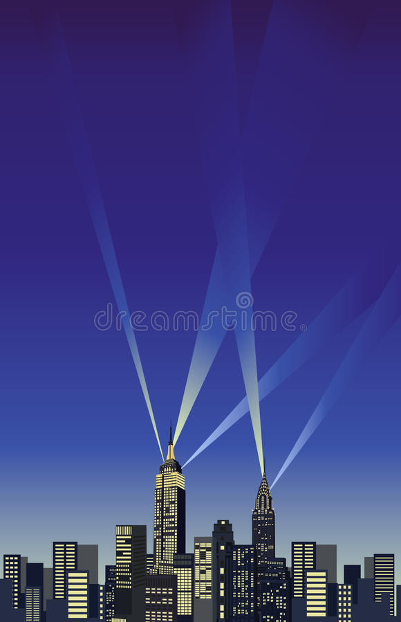 Gratte-ciel de New York illustration stock