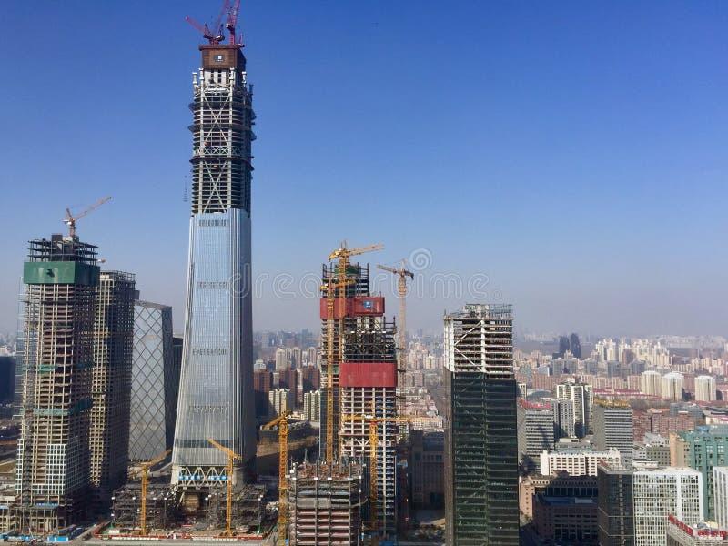Gratte-ciel de Pékin image libre de droits