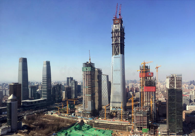 Gratte-ciel de Pékin photo libre de droits